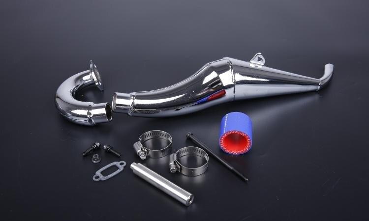 Фотография 1:5 Baja parts, Side Mount Chrome Steel Hi Performance Tuned Pipe