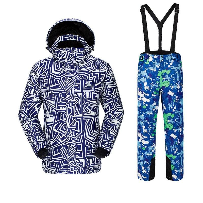 Новая мужская фанерная доска лыжный костюм, для спорта на открытом воздухе Лыжная одежда для альпинистов мужские лыжные штаны ветронепроницаемая Водонепроницаемая теплая одежда
