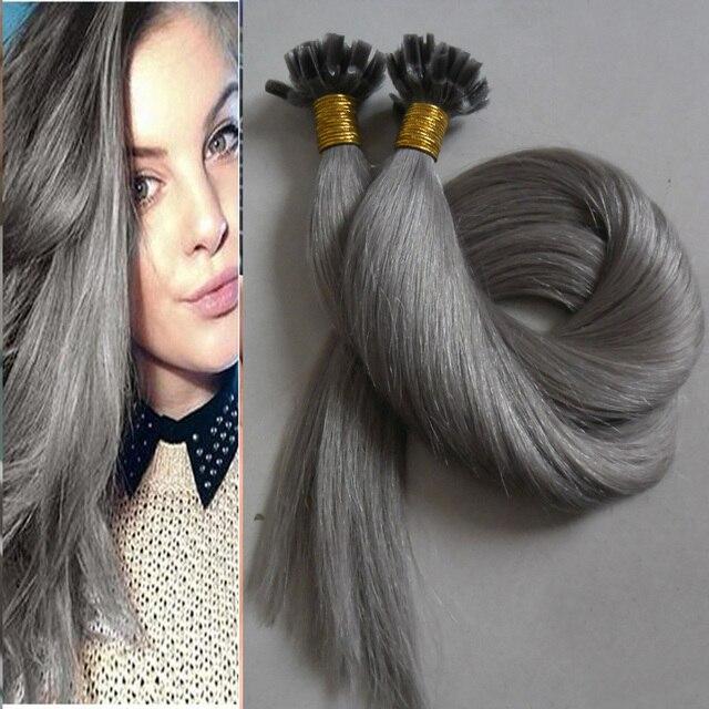 Aliexpress Online Hot Sales 100g Grey Hair Extension Brazilian Remy