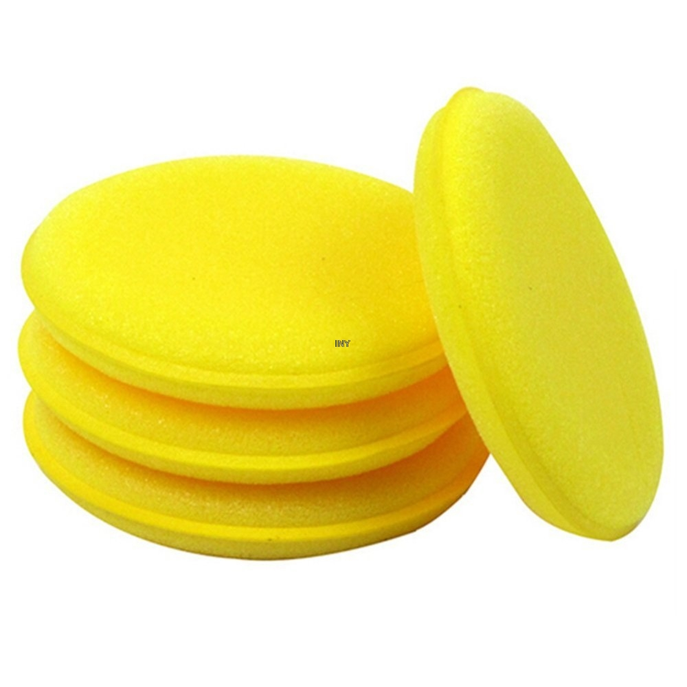 Image 4 - 12pcs/pack Waxing Polish Wax Foam Sponge Applicator Pads For Clean Car Vehicle Glass car styling INY