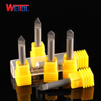 WeiTol free shipping 3A 1pcs 6mm diamond engraving bits PCD tools CNC router bits for marble, granite, bluestone