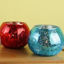Creative Decorative Glittering Glass Candle Holder