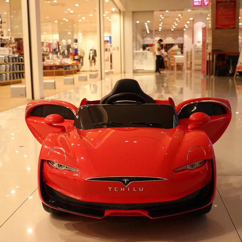 Abdo télécommande Automobile jouets voiture électrique enfant voiture électrique quatre roues Double entraînement jouet voiture rechargeable bébé peut s'asseoir sur