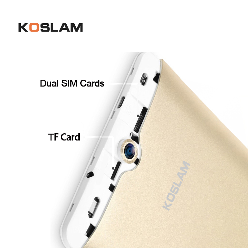 Купить с кэшбэком KOSLAM 7 Inch Android 7.0 Tablet PC MTK8321 Quad Core 1GB RAM 8GB ROM Dual SIM Card AGPS WIFI 3G Phone Call Phablet Kid's Tablet