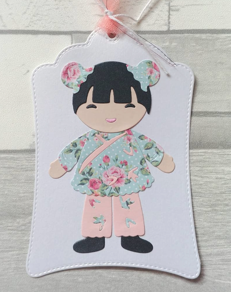 Die Cut METAL CUTTING DIES Cut Chinese Doll  Alinacraft Scrapbook Paper Craft Album Card Punch Knife Art Cutter