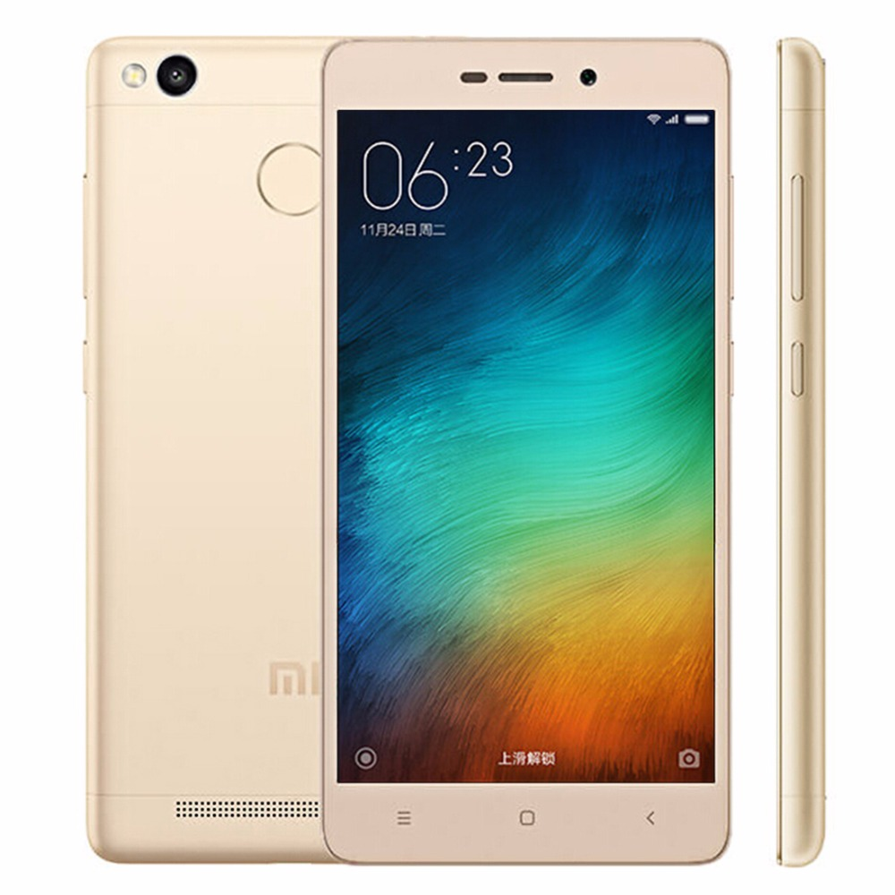 Original Xiaomi Redmi 3S 5.0 inch 4G Phone Call Tablet PC 3GB 32GB MIUI 7.0 Qualcomm Snapdragon 430 Octa Core, GPS 13MP