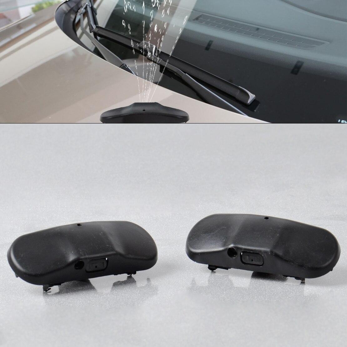 CITALL 2Pcs Black Windscreen Washer Jet Water Spray Nozzle 2KD 955 985 For Volkswagen VW Passat B6 Jetta Golf GTI Caddy