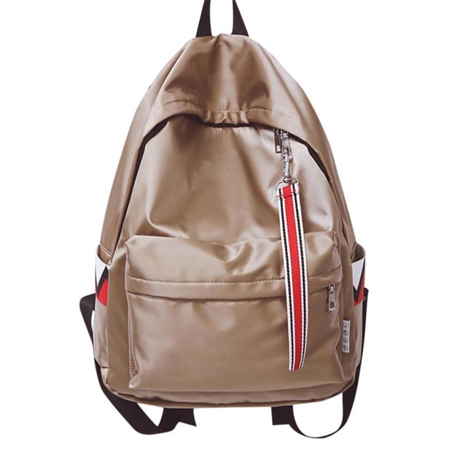 MOLAVE Backpack Girls Backpack Solid Backpacks Boys Zipper Unisex Waterproof Anti Water Backpacks Double Shoulder Bag May7