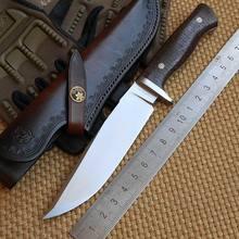 LW Python 2 D2 blade Mikata uchwyt Skóra powłoka stałe ostrze polowanie duży nóż camping survival odkryty EDC noże narzędzia
