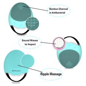 Image 5 - Szczotka do czyszczenia twarzy ultradźwiękowy elektryczny silikonowy szczoteczka do oczyszczania twarzy szczotka do czyszczenia urządzenie kosmetyczne bezprzewodowa ładowarka głęboko czysty masaż twarzy