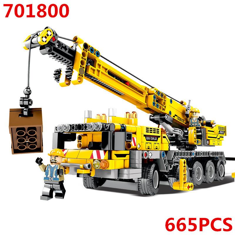 701800 Technic Truck Motor  Technik Figures Building Blocks Bricks Diy Toys Compatible with legoingly 8421 gift