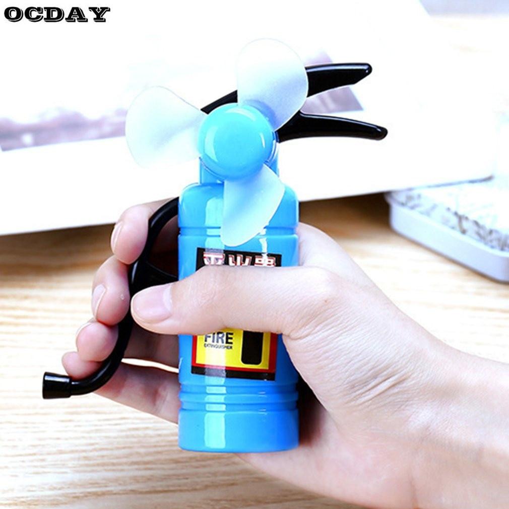 Portable Handheld Cooling Fan Children Students Environmental Fire Extinguisher Shape Cooler Cooling Fan Funny Toys For Kids