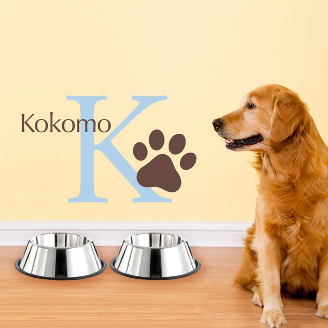 Aliexpresscom Buy DOG Personalized Initial Dog Name Wall - Custom vinyl wall decals dogs