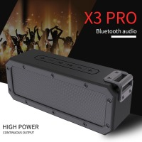 X3 PRO Bluetooth4.2 Speaker Waterproof IP67 Outdoor Portable Shower Wireless 40W Speakers with 10 HOURS Playtime HD audio