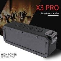 X3 PRO Bluetooth4.2 Speaker Waterproof IP67 Outdoor Portable Shower Wireless 40W Speakers with 10 HOURS Playtime HD audio