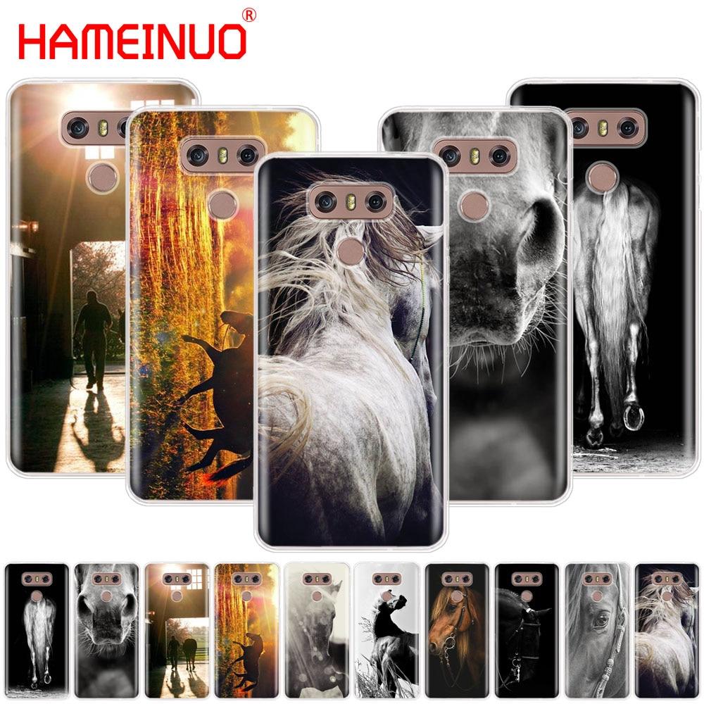 HAMEINUO Sunset and horse case phone cover for LG G7 Q6 G6 MINI G5 K10 K4 K8 2017 2016 X POWER 2 V20 V30 2018