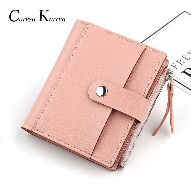 Novas senhoras curto casual zíper fivela pequeno saco de cartão super macio bolso de couro pequena bolsa, carteira, bolsa de cartão moda