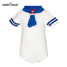 Green Home Baby Rompers Cotton Baby Girl Clothes White Navy Style Baby Boy Clothes Newborn Clothes
