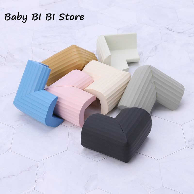 CHILD BABY TODDLER CORNER EDGE FURNITURE PROTECTOR SAFETY GUARD RUBBER COVER x4