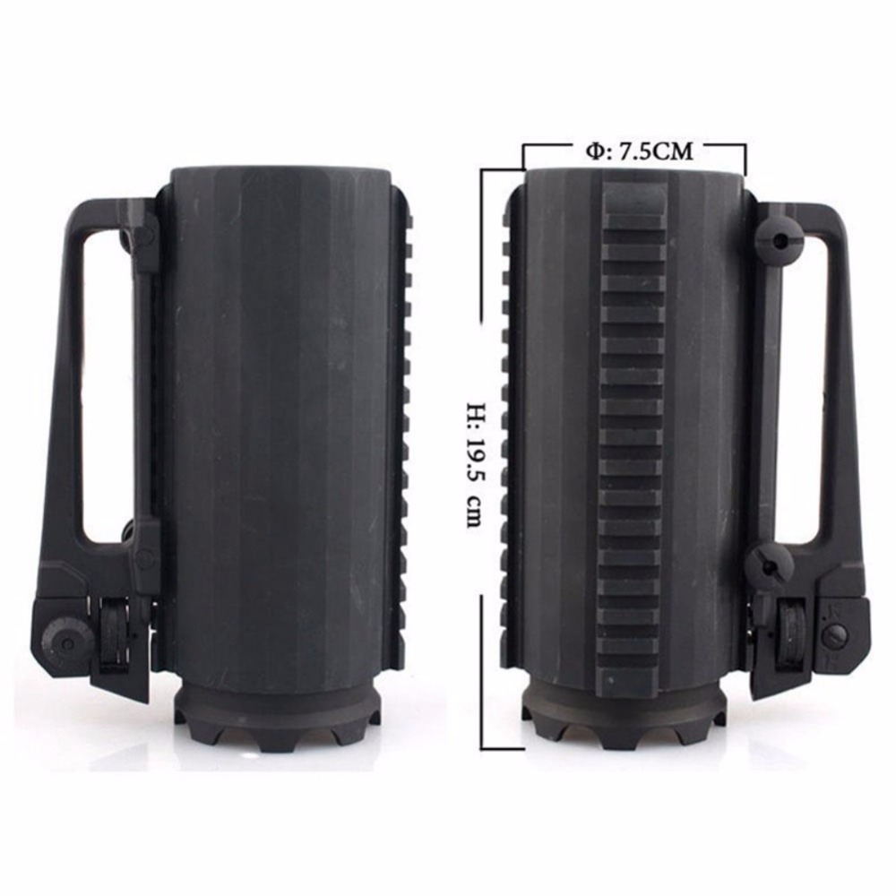 Tactical Military Multifunction Aluminum Detachable Carry Battle Rail Mug Cup tactical mug cup multi function military hunting gun accessories aluminum handled carry detachable large battle coffee beer mug