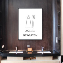 Nordic Toilet Signal Room Minimalist Canvas Painting Black White Posters And Prints Wall Art Pictures Bath Room Home Decor(China)