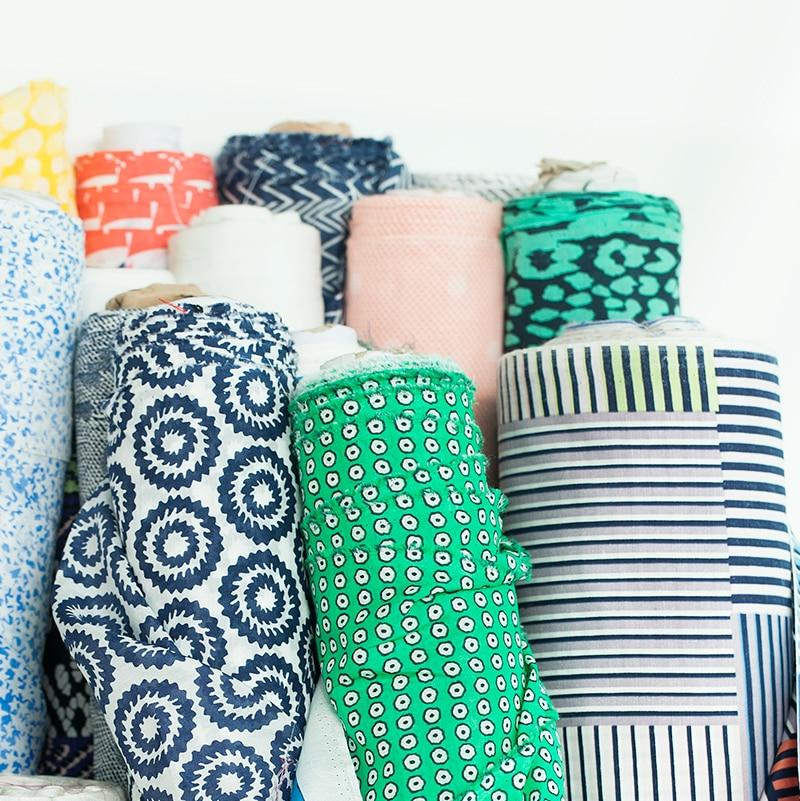 Gedruckt abstrakte geometrische und punkte und striped silk blends baumwolle stoff, nähen für kleid, rock, hemd, futter, handwerk von der werft