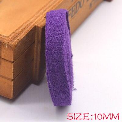 Новые цветные 10 мм шеврон хлопок ленты тесьма сельдь bonebinding ленты кружева обрезки для упаковки аксессуары DIY - Цвет: purple 500