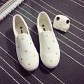 2016 Summer breathable flat women shoes white canvas shoes students cartoon character mujeres zapatos