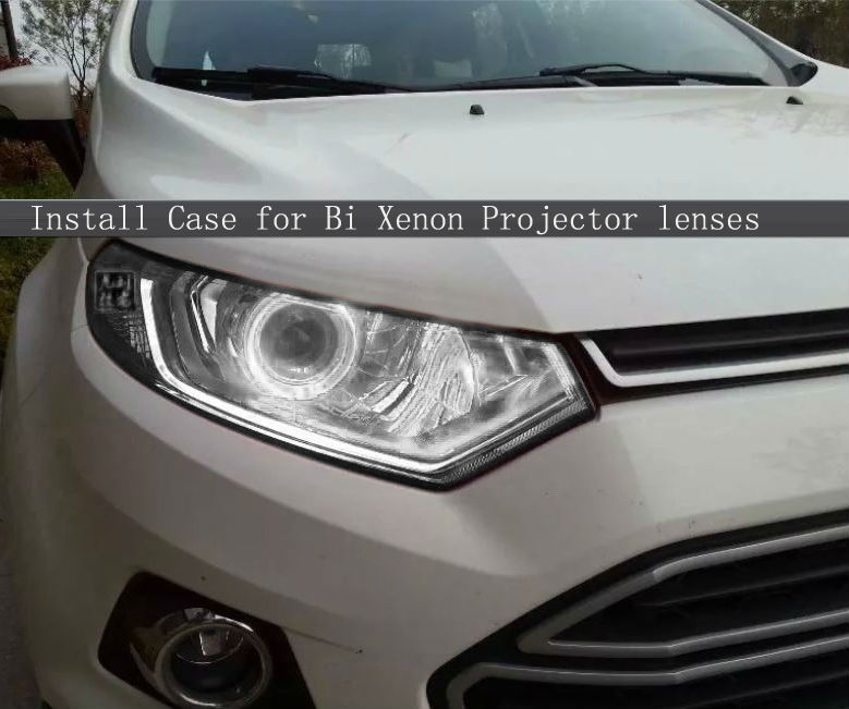 EcosportSUV headlights repacking Bi Xenon Projector lens H1,H4,H7,H11,9005,9006 car styling with angel ring eyes car covers hot selling 360 degree cob led devil eyes headlights demon eye for 3 0 inch car headlight projector lens ring car styling