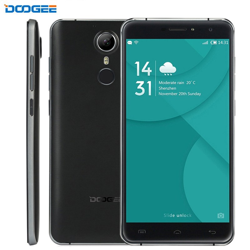 4G DOOGEE F7 3GB+32GB Fingerprint Identification 5.5'' Android 6.0 MTK6797 Helio X20 Deca Core Cell Phones Gyroscope 3400mAh