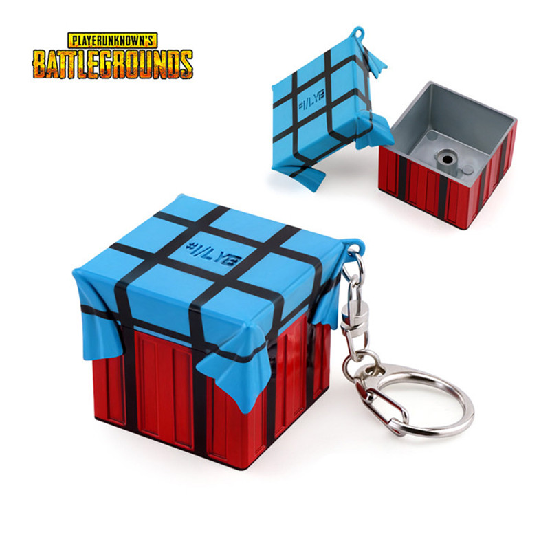 Hot PUBG playerunknown's Battlegrounds Airdrop bag Cosplay Accessories Pendant Keychain gift collection winner chicken dinner