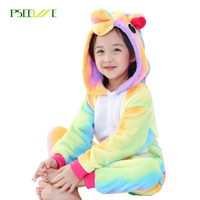 Winter Kid Pajamas Animal Cosplay Children Boy Girl Unicorn Panda Stitch Cartoon Onesie Sleepwear Christmas Pijamas