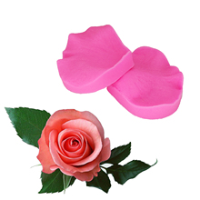 2PCS/set  Petal Leaf Rose Shaped Silicone Mold Cake Decoration tools Fondant 3D Flowers Wedding cake Mould  T1197 цены