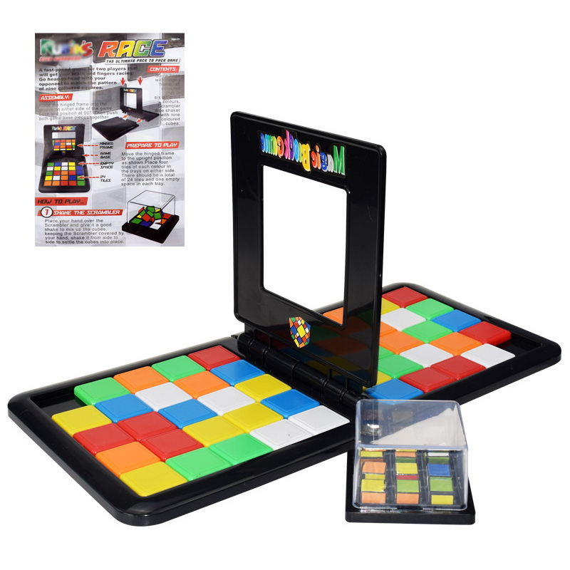 Cube Set Double Player Reactive Cube Game Magic Block Playset Cubes Collection Puzzle Toy para ni/ños
