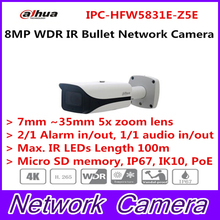 Dahua 2017 New Arriving cameras 8MP WDR IR Bullet Network Camera Without Logo IPC-HFW5831E-Z5E free DHL shipping