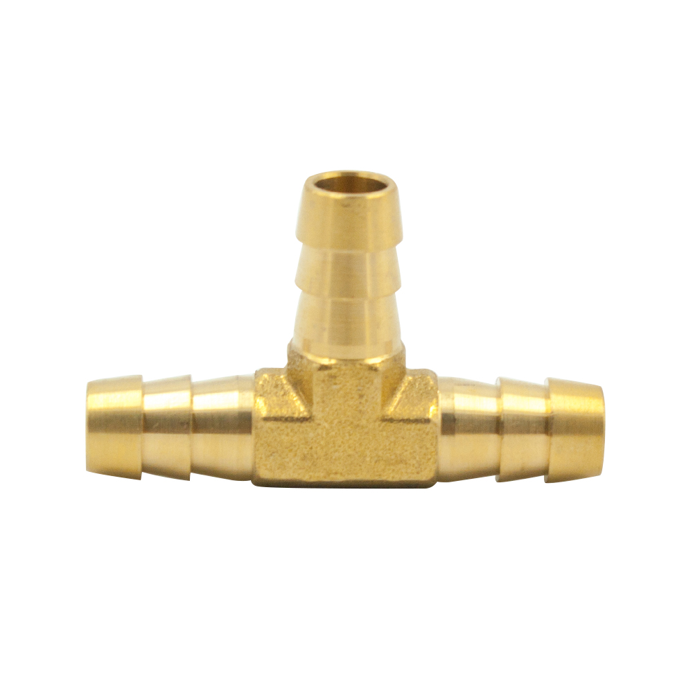 Legines 2 Pcs Brass Hose Barbed Reducer Tee Splicer Fitting, Reducing 3 Ways Connector 4mm 5mm 6mm 8mm 10mm 12mm Hose ID