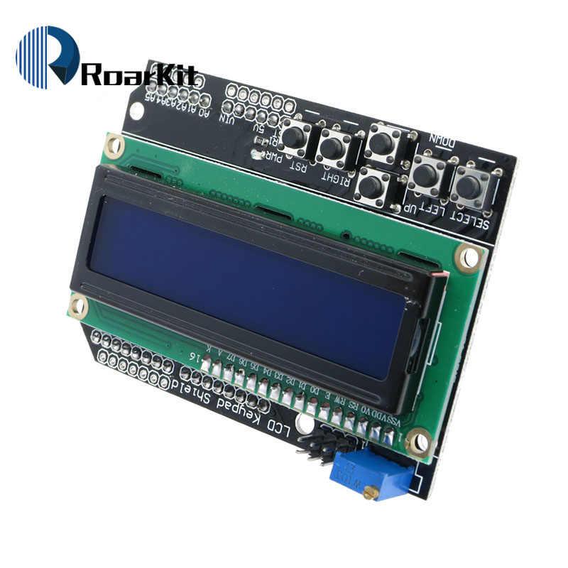 Écran LCD clavier LCD 1602 caractère LCD entrée et sortie carte d'extension pour arduino raspberry pi uno mega 2560