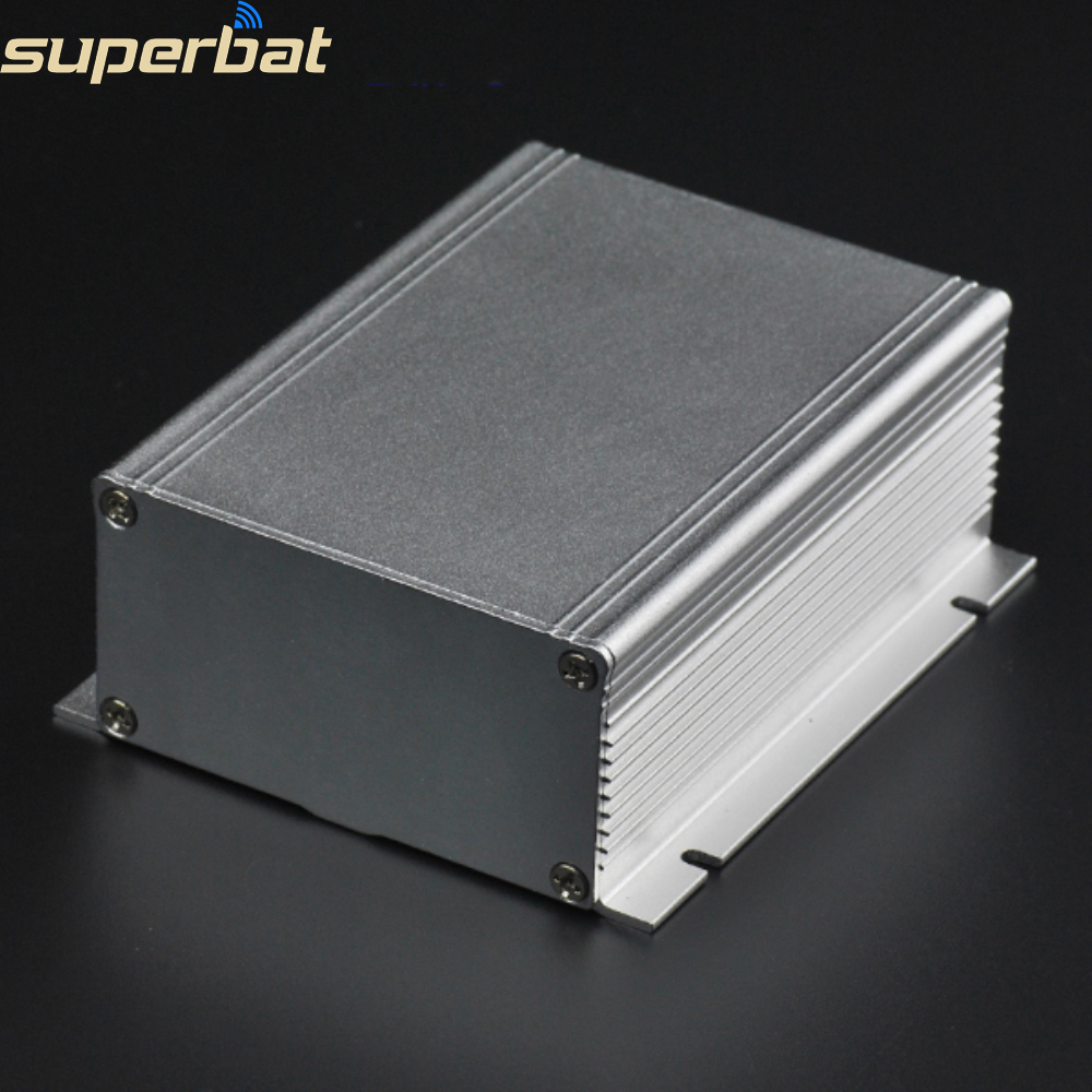 3.94″*3.46″*1.54″ Silver Extruded Aluminum Box Electronic Power Enclosure PCB Instrument Case DIY Project 100X88X39MM with Screw