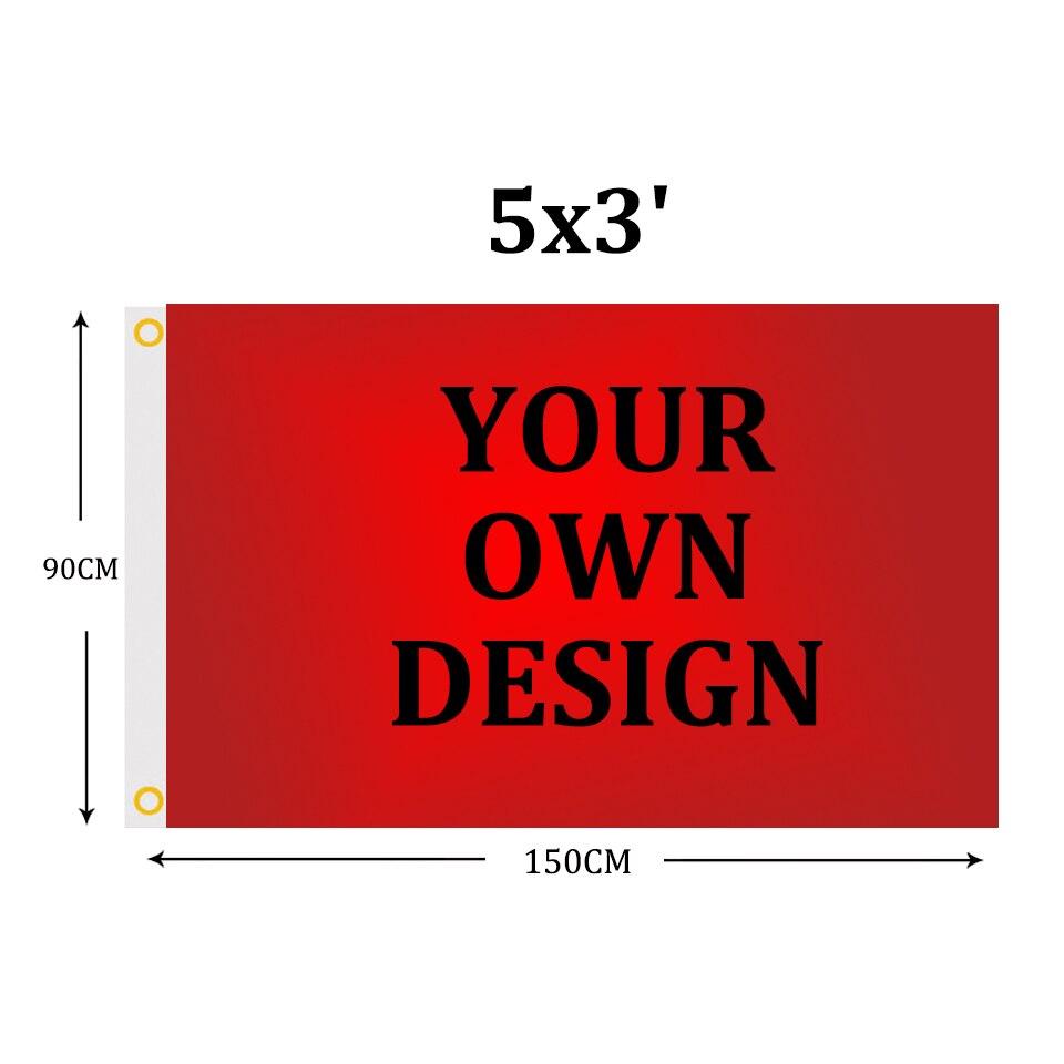 Пользовательские флаг 5x3FT полиэстер настройки флаг баннеры