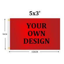 Пользовательский флаг 5x3FT полиэстер Кастомизация флаг баннеры