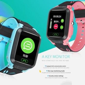 Водонепроницаемый gps длительное время ожидания Смарт-часы для детей Сенсорный экран умные часы, Sim карты чат Функция