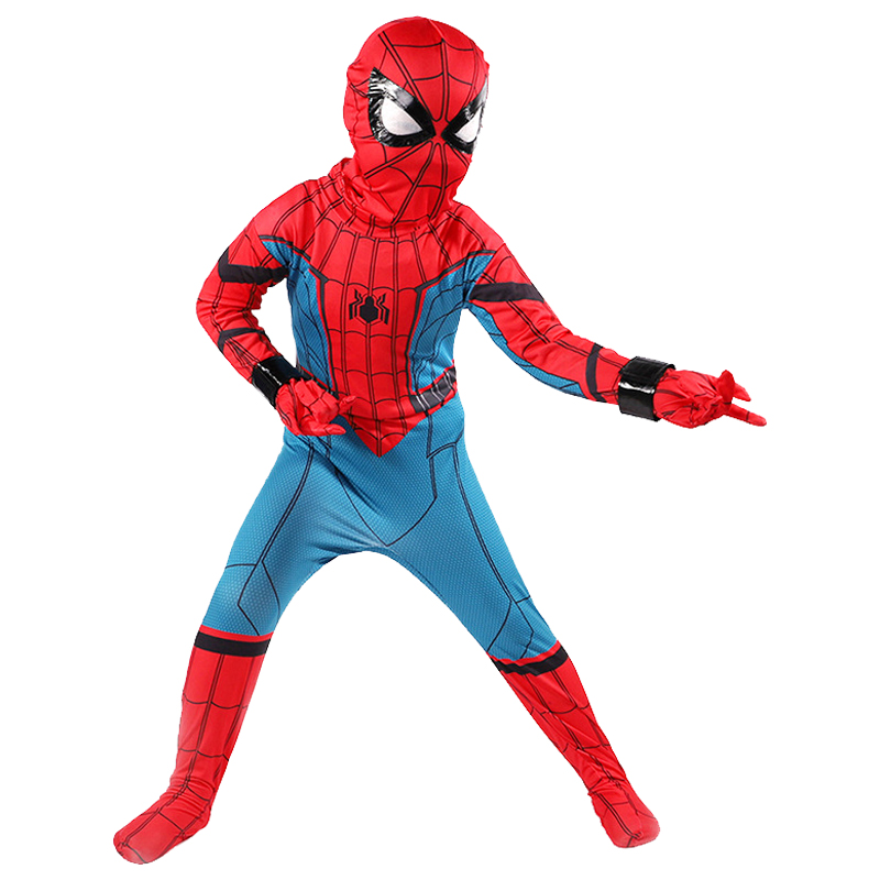 Halloween New Boys Classic Spiderman Costume Based On 2017 Superhero Movie Homecoming Marvel Comics Character Child Zentai Style