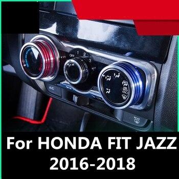 Dla HONDA FIT JAZZ 2016-2018 pokrętło klimatyzacji pokrywa pierścienia dekoracja wnętrz akcesoria samochodowe