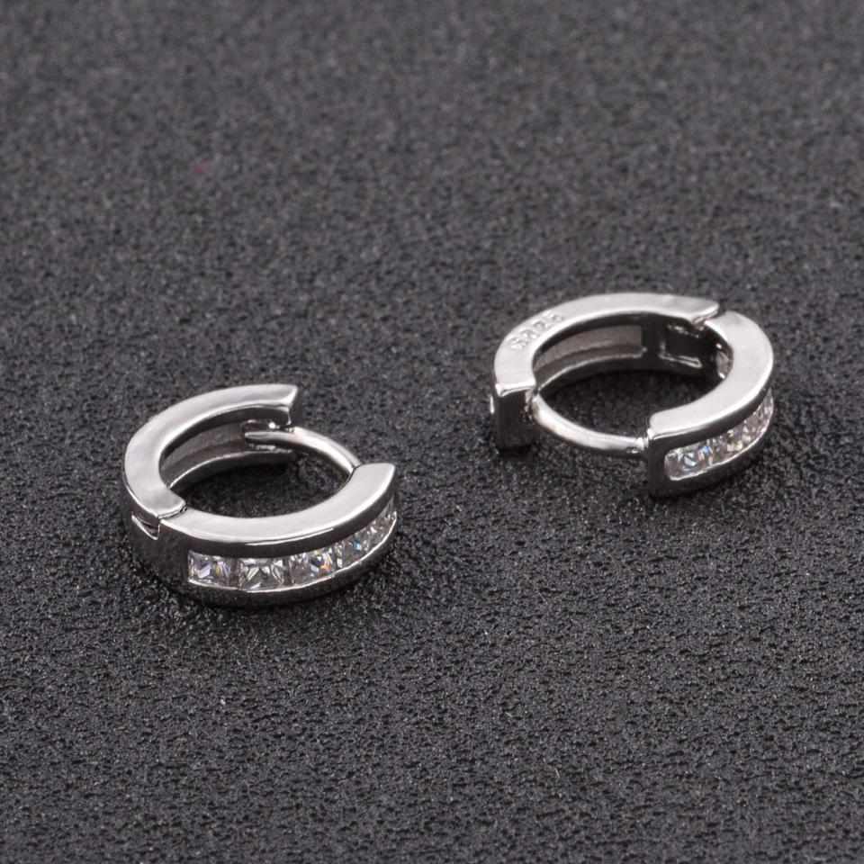 Sterling-sølv smykker pendientes mujer øreringe 925 brincos plata - Mode smykker - Foto 4