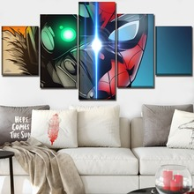 Home Decorative Bedroom Wall Art 5 Pieces Movie Spider-Man Homecoming Pictures High Quality Canvas Print Modular Poster Painting
