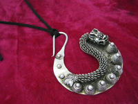 Miao Rural Dongzhai National Wind Retro Necklace Handmade Miao Silver Pendant Fall Pendant