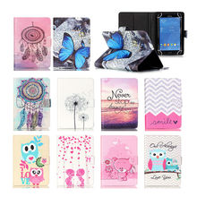 [Printed] PU Leather Case For LG G 8.3 V500 For LG Optimus Pad 2 8inch Universal Tablet cover Stand cases S4D69D