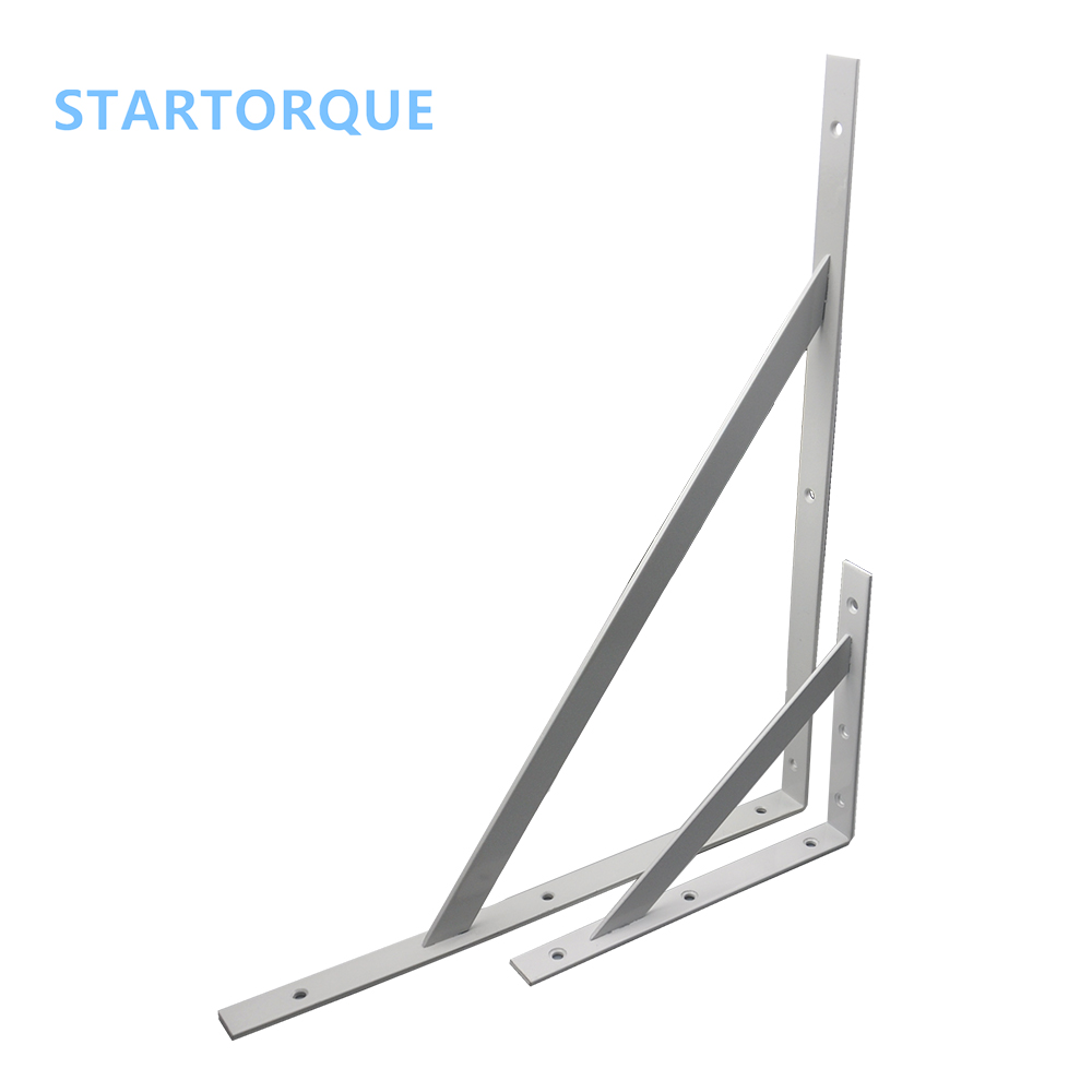 2PC 500x400mm Electroplated Heavy Duty Thicker Triangle Load-bearing Separate plate Fixed at right angles Wall Shelf support дырокол deli heavy duty e0130
