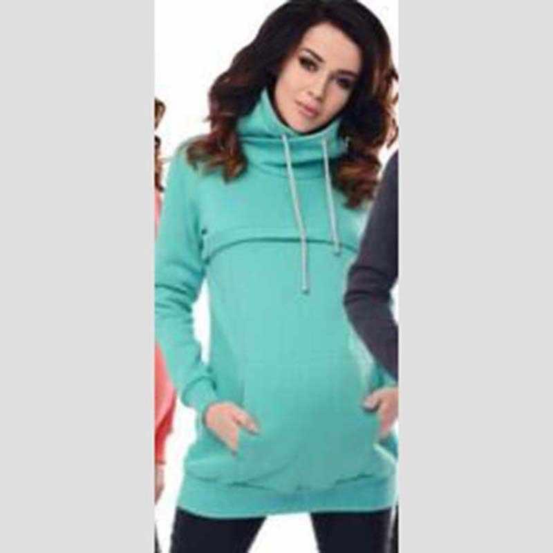 Одежда с длинным рукавом для беременных толстовки с шляпа шнурок для кормления с капюшоном свитера лактации Matherinity одежда для кормления