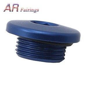Image 2 - Aluminum For Yamaha YFM700 YFM 700 Top Crankcase Oil Filler Plug & O Ring Raptor Quad Blue Black Silver Red